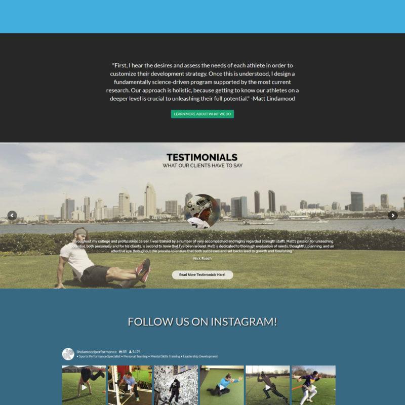 Lindamood Performance – Web Design