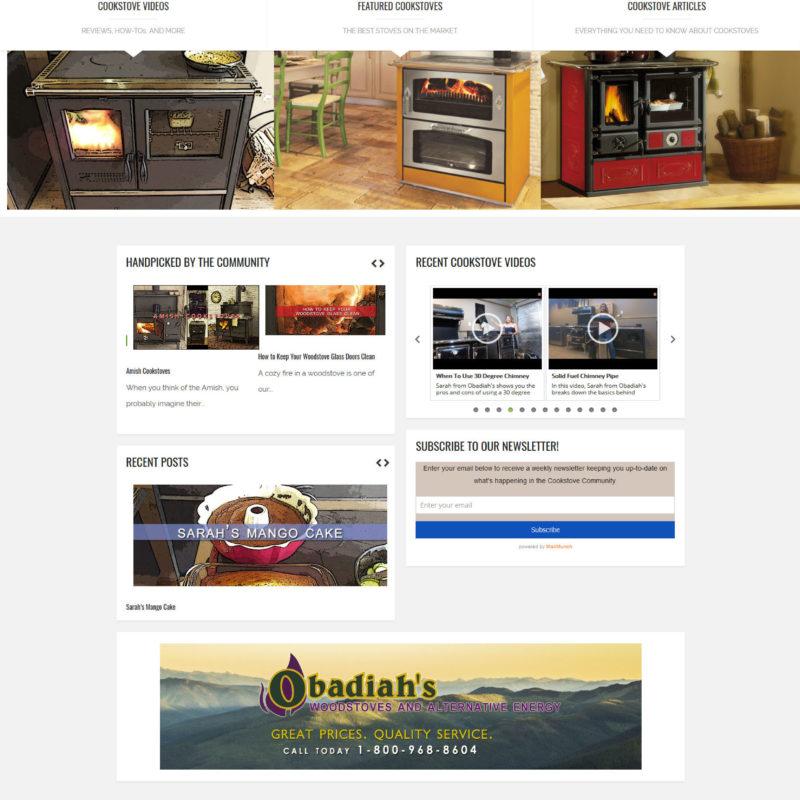 Cookstove Community – Web Design