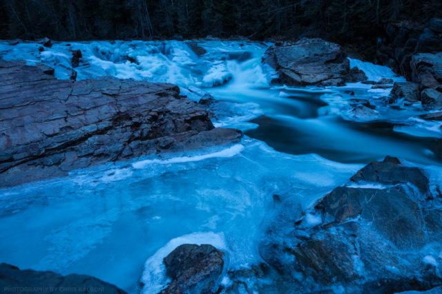 yaak falls valley winter kootenai national forest troy montana