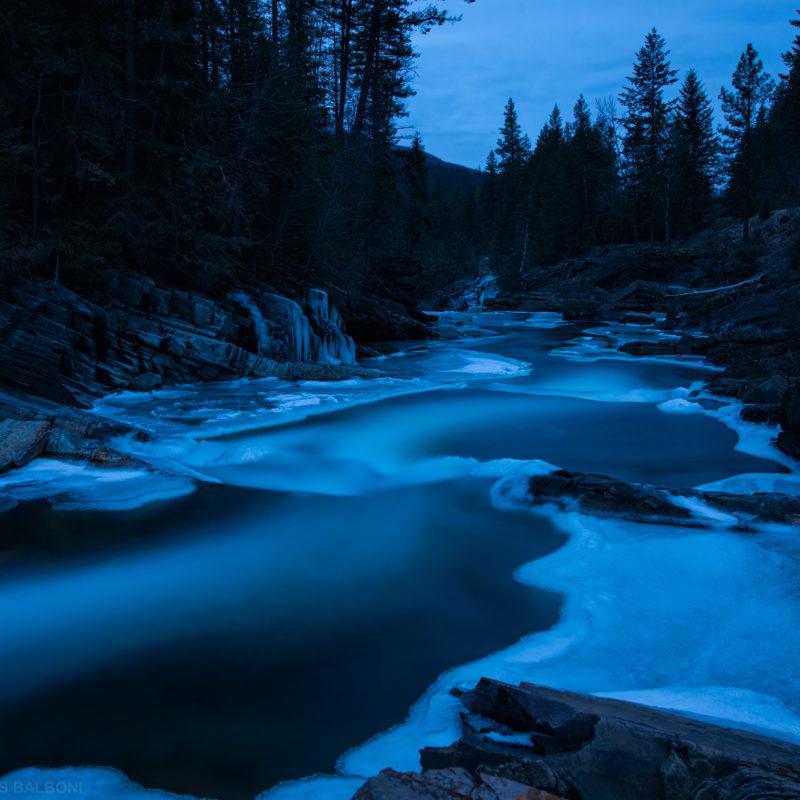 Yaak River – Winter Dusk